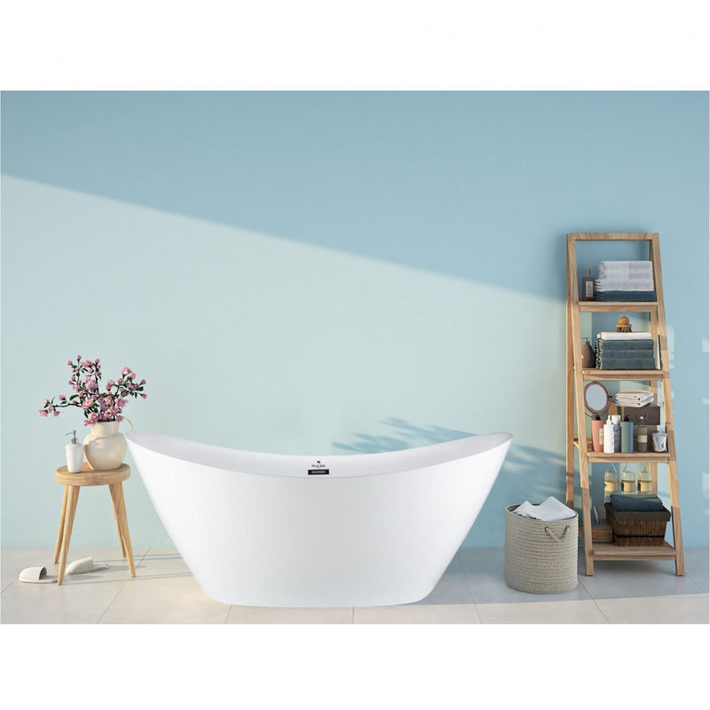 PULSE PT-1003-CH Tubs White Freestanding Tub - homeconvex