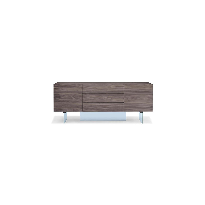 Whiteline Modern Living SB1396 Roxana Buffet Walnut Veneer - homeconvex