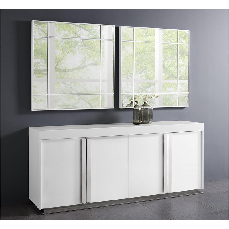 Whiteline Modern Living SB1415 Maurice Buffet High Gloss White - homeconvex