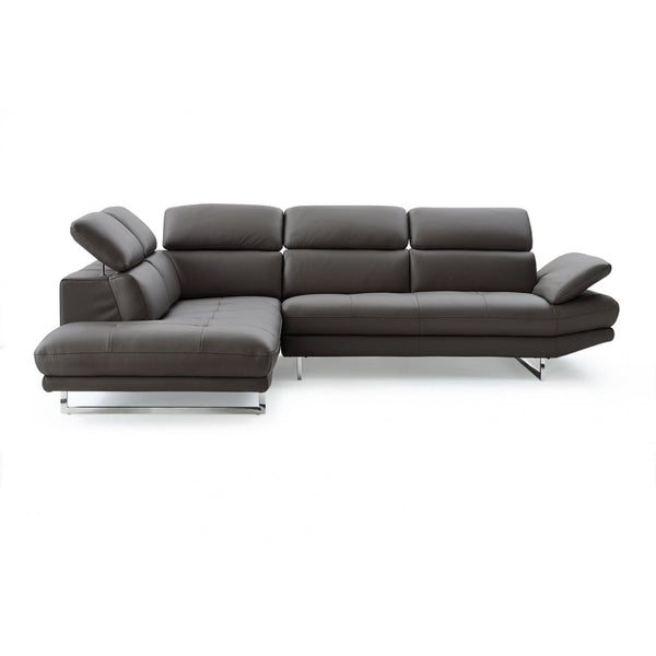 Whiteline Modern Living SL1351L Pandora Sectional, Dark Gray - homeconvex