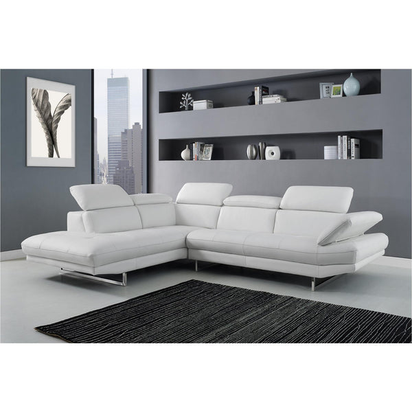 Whiteline Modern Living SL1351L Pandora Sectional, White - homeconvex