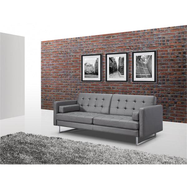 Whiteline Modern Living SO1195P Giovanni Sofa Bed Gray - homeconvex