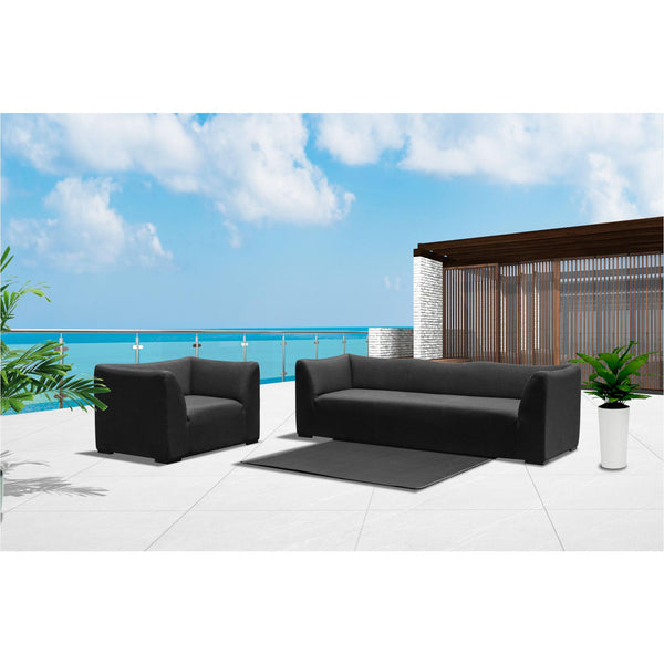 Whiteline Modern Living SO1575 Harmony Indoor/Outdoor 3 Seater Sofa, Dark Charcoal - homeconvex