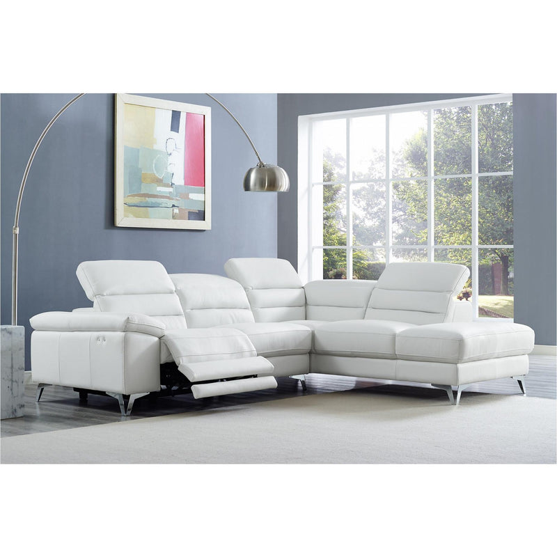 Whiteline Modern Living SR1349L Johnson Sectional White - homeconvex