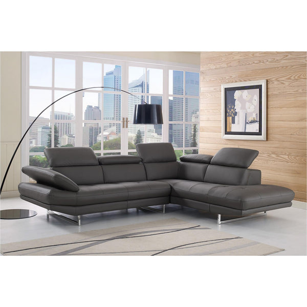Whiteline Modern Living SR1351L Pandora Sectional Dark Gray - homeconvex