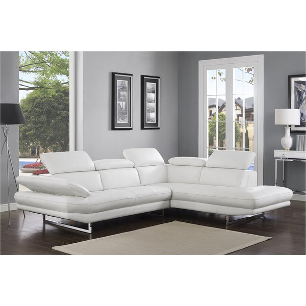 Whiteline Modern Living SR1351L Pandora Sectional, White - homeconvex