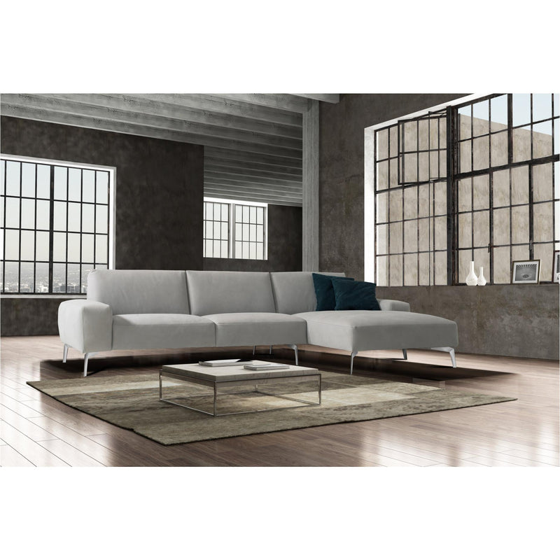 Whiteline Modern Living SR1615 Negramaro Sectional Light Grey - homeconvex