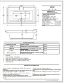 Atlantis Whirlpools 4678I Infinity 46 x 78 Endless Flow Soaking Bathtub