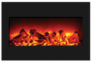 "Amantii ZECL-2939-BG ZECL fireplace with 29"" x 39"" black glass surround"
