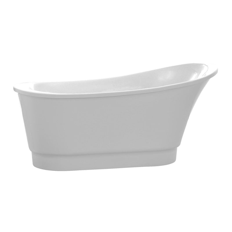 ANZZI FT-AZ095 Prima 67 in. Acrylic Flatbottom Non-Whirlpool Bathtub in White - homeconvex