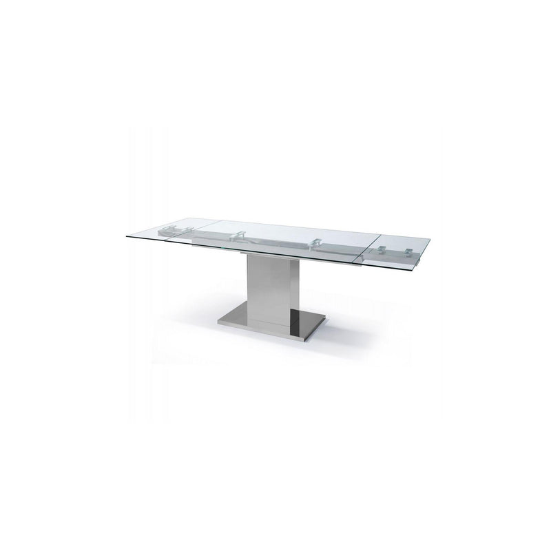 Whiteline Modern Living DT1233 Slim Extendable Dining Table - homeconvex