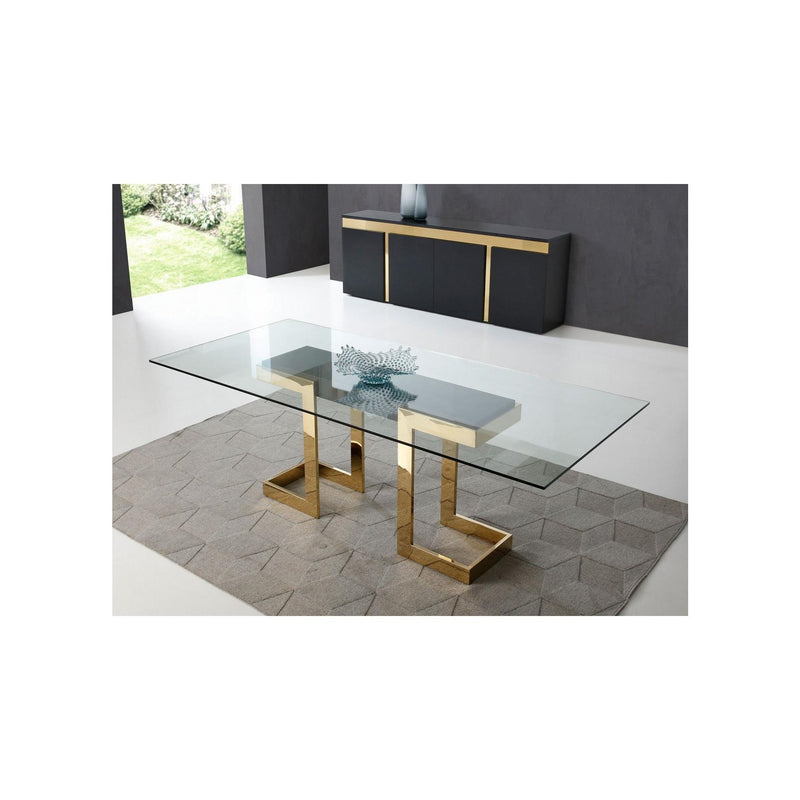 Whiteline Modern Living DT1658 Sumo Rectangle Dining Table - homeconvex