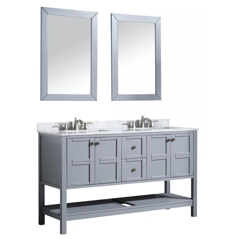 ANZZI V-MGG013-60 Montaigne 60 in. W x 35 in. H Bathroom Vanity Set in Rich Gray - homeconvex
