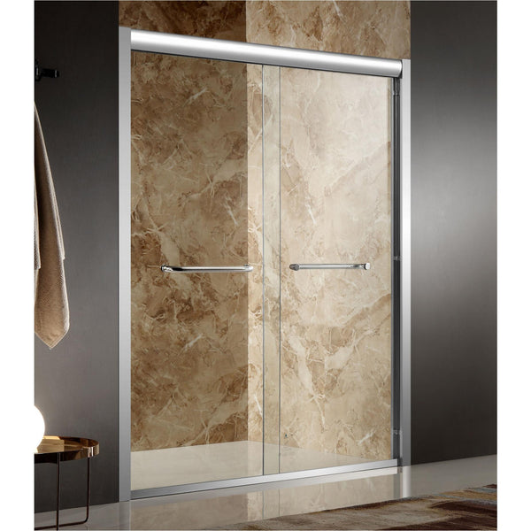 ANZZI SD-AZ01BCH-R Pharaoh 48 in. x 72 in. Framed Sliding Shower Door in Polished Chrome with Handle - homeconvex