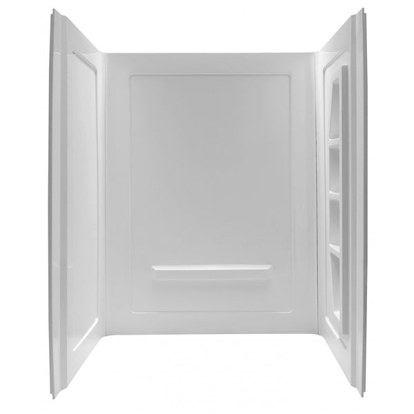 ANZZI SW-AZ010WH Forum 60 in. x 36 in. x 74 in. 3-piece Direct-to-Stud Alcove Shower Surround in White - homeconvex