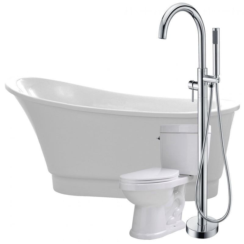 ANZZI FTAZ095-25C-65 Prima 67 in. Acrylic Flatbottom Non-Whirlpool Bathtub with Kros Faucet and Talos 1.6 GPF Toilet - homeconvex