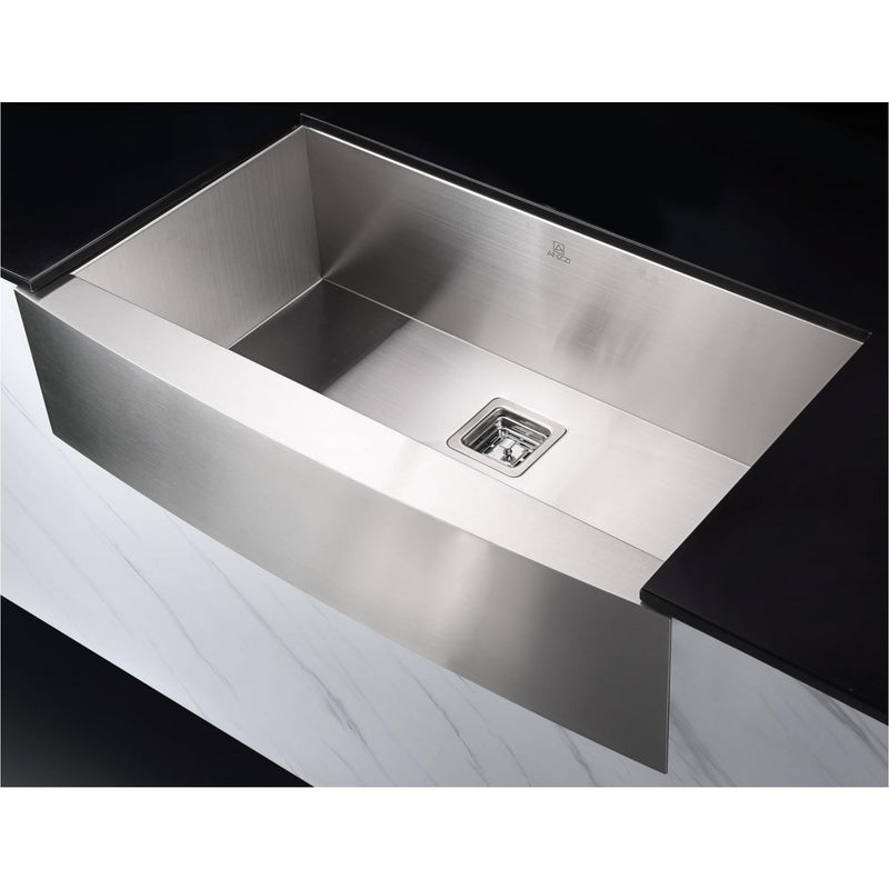 ANZZI KAZ33201AS-031O Elysian Farmhouse 32 in. Single Bowl Kitchen Sink with Faucet in Oil Rubbed Bronze - homeconvex