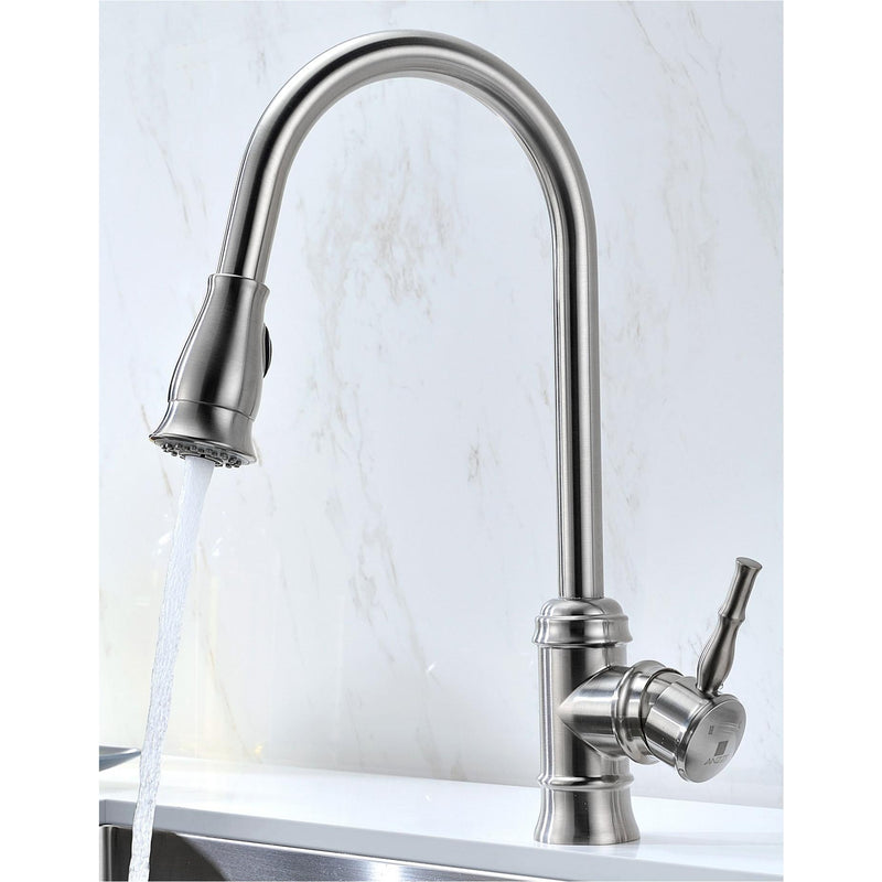 ANZZI K32192A-130 VANGUARD Undermount 32 in. Double Bowl Kitchen Sink with Sails Faucet in Brushed Nickel - homeconvex