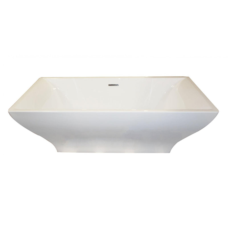 ANZZI FT-AZ010 Vision 5.9 ft. Acrylic Center Drain Freestanding Bathtub in Glossy White - homeconvex