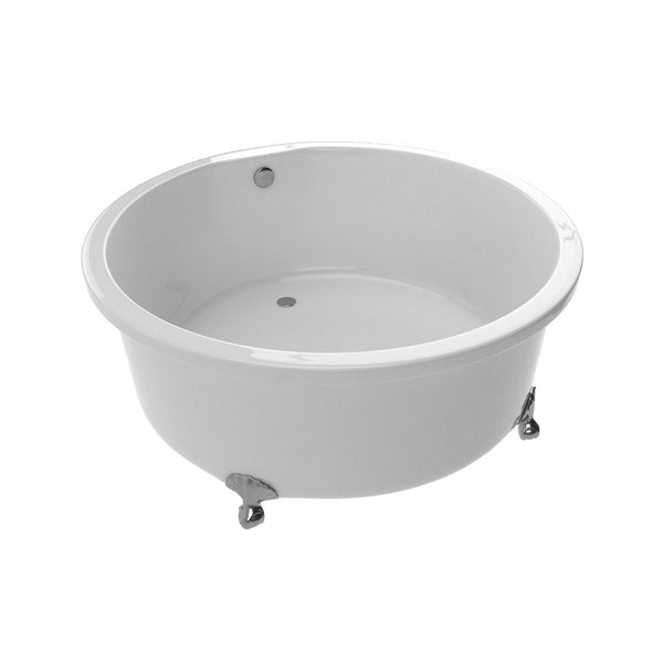 ANZZI FT-AZ302 Cantor Series 4.9 ft. Acrylic Clawfoot Non-Whirlpool Bathtub in White - homeconvex