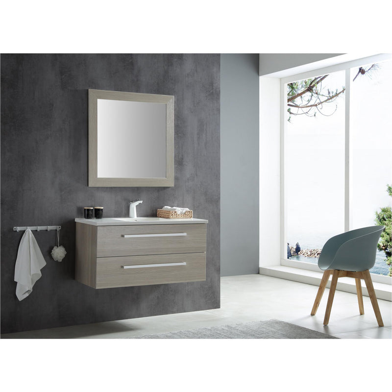 ANZZI V-CQA003-39 Conques 39 in. W x 20 in. H Bathroom Vanity Set in Rich Gray - homeconvex