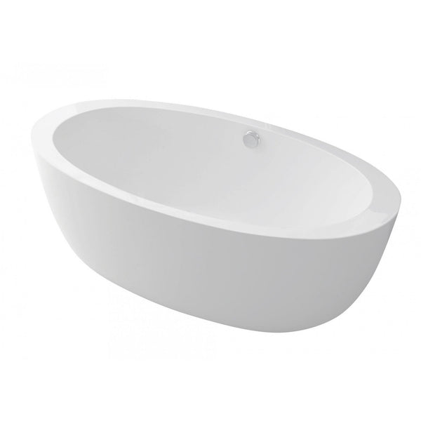 ANZZI FT-AZ111 Yield Series 5.58 ft. Freestanding Bathtub in White - homeconvex