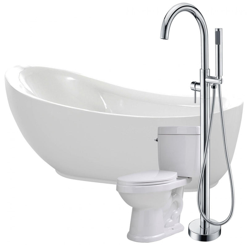 ANZZI FTAZ090-25C-65 Talyah 71 in. Acrylic Flatbottom Non-Whirlpool Bathtub with Kros Faucet and Talos 1.6 GPF Toilet - homeconvex