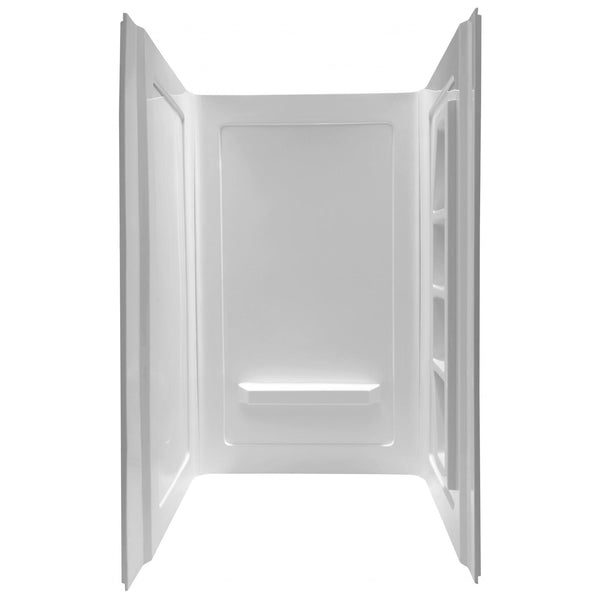 ANZZI SW-AZ011WH Forum 48 in. x 36 in. x 74 in. 3-piece Direct-to-Stud Alcove Shower Surround in White - homeconvex