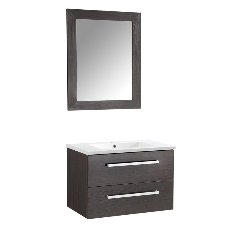 ANZZI V-CQA007-30 Conques 30 in. W x 20 in. H Bathroom Vanity Set in Rich Brown - homeconvex
