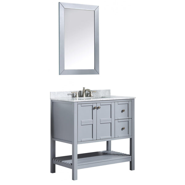 ANZZI V-MGG013-36 Montaigne 36 in. W x 35 in. H Bathroom Vanity Set in Rich Gray - homeconvex
