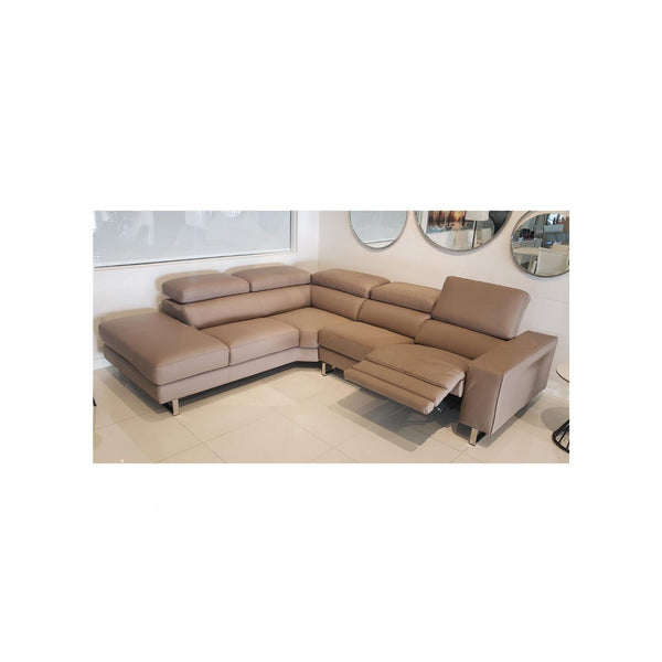 Whiteline Modern Living SL1421LS Augusto Large Sectional Taupe - homeconvex