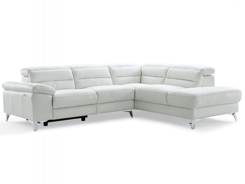 Whiteline Modern Living SR1349L Johnson Sectional White
