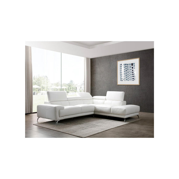 Whiteline Modern Living SR1467LS Fabiola Sectional, White - homeconvex