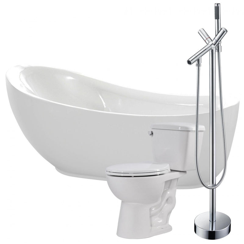 ANZZI FTAZ090-42C-63 Talyah 71 in. Acrylic Soaking Bathtub with Havasu Faucet and Cavalier 1.28 GPF Toilet - homeconvex