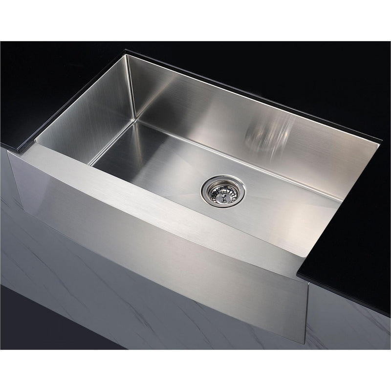 ANZZI KAZ36201A-GD12 Elysian Farmhouse 36 in. Single Bowl Kitchen Sink with Medusa 1/2HP Garbage Disposal - homeconvex