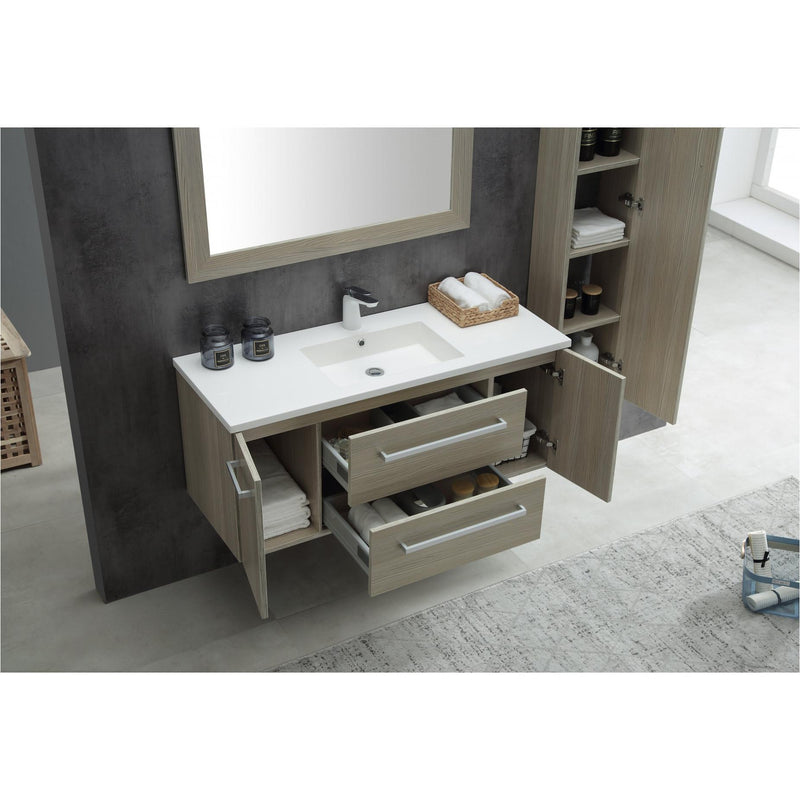 ANZZI V-CQA033-48 Conques 48 in. W x 20 in. H Bathroom Vanity Set in Rich Gray - homeconvex