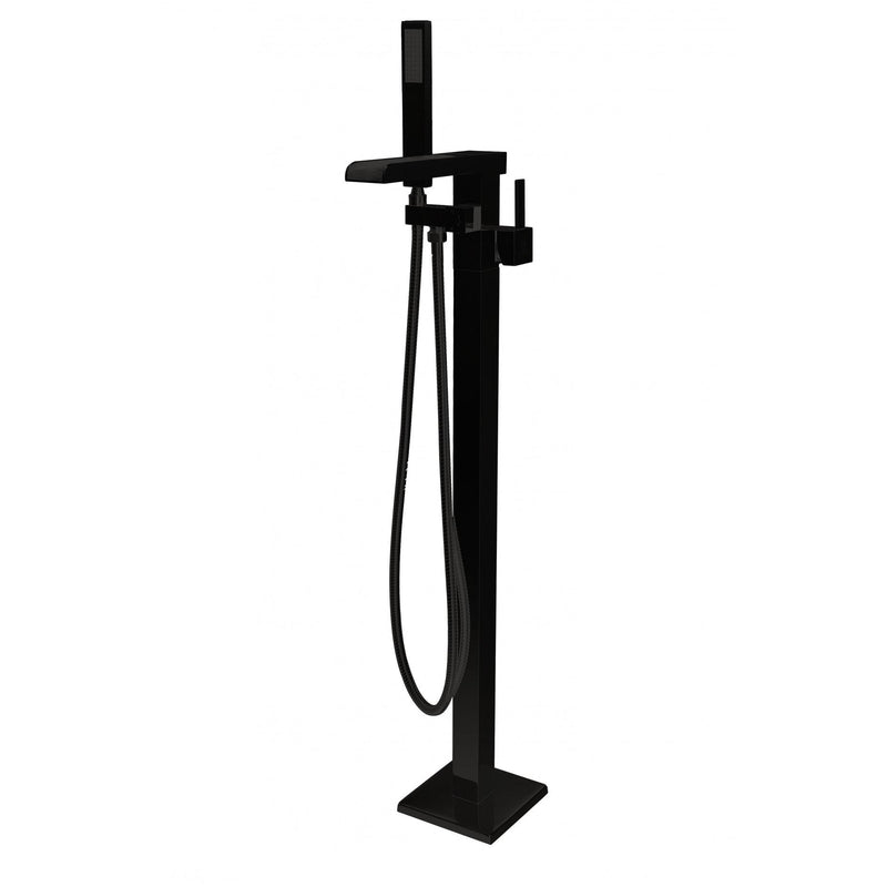 ANZZI FS-AZ0059BK Union 2-Handle Claw Foot Tub Faucet with Hand Shower in Matte Black - homeconvex