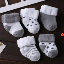 Load image into Gallery viewer, 5 Pair/lot new cotton thick baby toddler socks autumn and winter warm baby foot sock