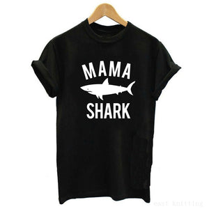 Family Shark Set Shirts Cute Matching Shark Shirts Mom Dad Baby T shirt Newborn Bodysuit