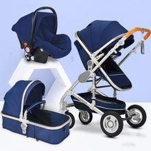 Load image into Gallery viewer, Multifunctional 3 in 1 Baby Stroller High Landscape Stroller  Folding Carriage Gold Baby Stroller Newborn Stroller