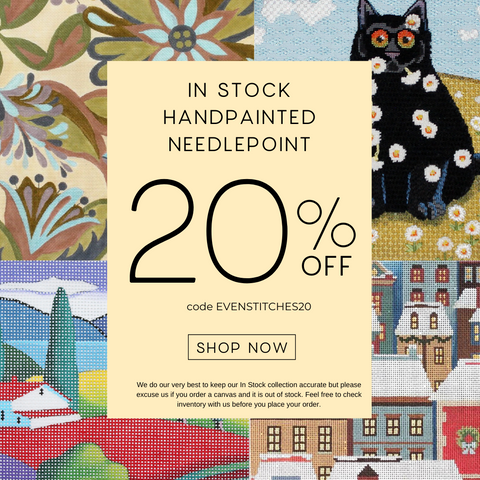20% off needlepoint with code EVENSTITCHES20