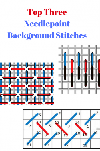 top three needlepoint background stitches and how to work them