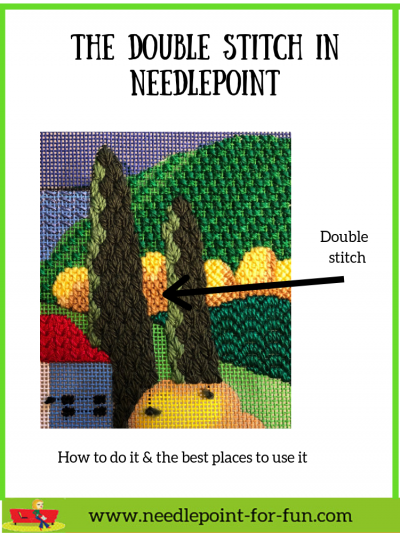 needlepoint double stitch