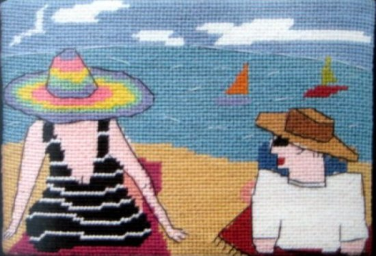 how to plan a needlepoint canvas with stitches