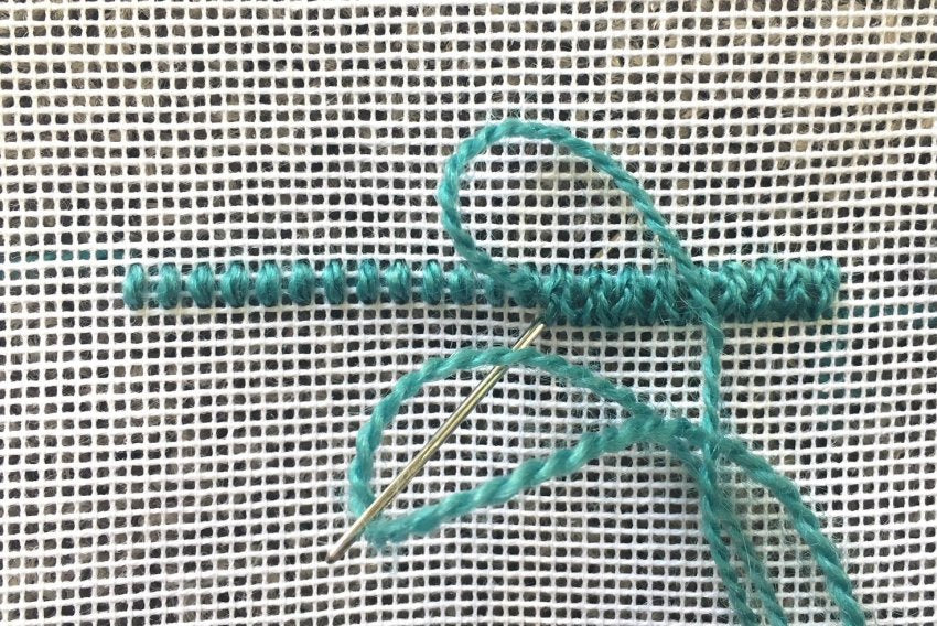 laced chain needlepoint stitch