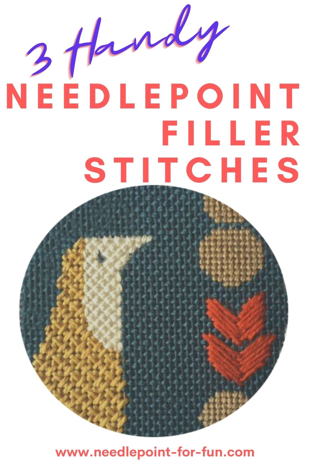 needlepoint filler or background stitches