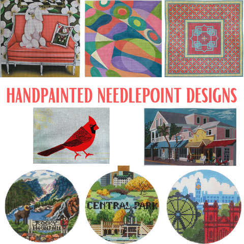 handpainted needlepoint designs in stock
