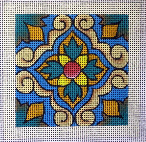 Lisbon Tile needlepoint design