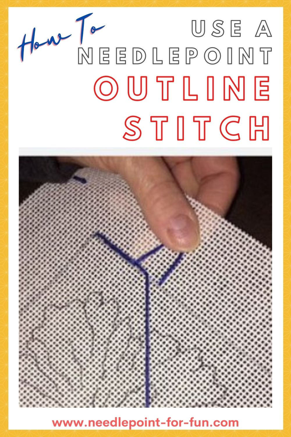 needlepoint outline stitch