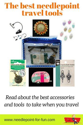 needlepoint tools to take when traveling